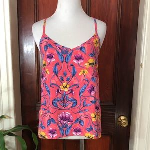 Hollister pink/blue/yellow floral tank top